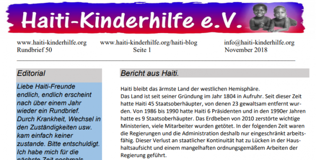 Rundbrief Nr. 50